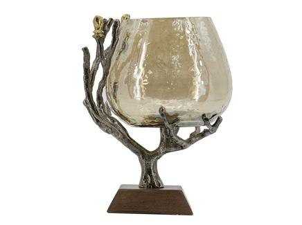 Ваза - подсвечник (glasar) золотой 17x22x17.5 см.