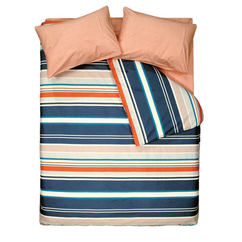 Комплект постельного белья Line OrangeДвуспальные комплекты постельного белья<br>Размеры товара: FAMILY Семейный: Пододеяльник: 160*220(2шт.) Простыня: 240*260 (1шт.) Наволочки: 50*70 (2шт.) Наволочки 70*70 (2шт.) Иногда для того чтобы оживить атмосферу в комнате, достаточно всего лишь добавить несколько привычных вещей -оригинальных декоративных подушек, постелить яркое постельное белье, плед. Постельное белье серии &amp;quot;Minimal&amp;quot; создано специально для ярких моментов в жизни вашей спальни.<br><br>Material: Хлопок