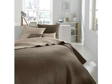 Покрывало aima (laredoute) коричневый 150x150 см.