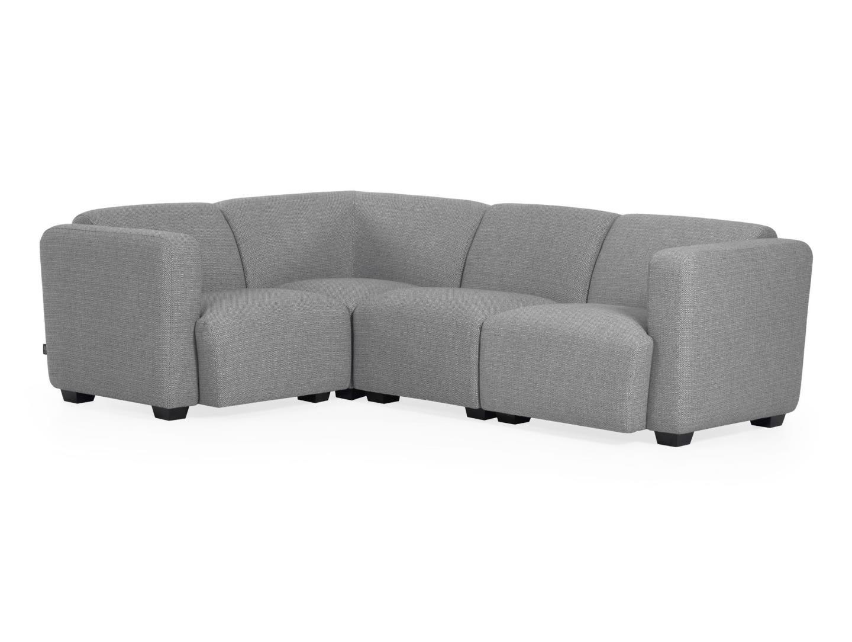 La forma угловой диван legara серый 226x164 см. 129818/129826
