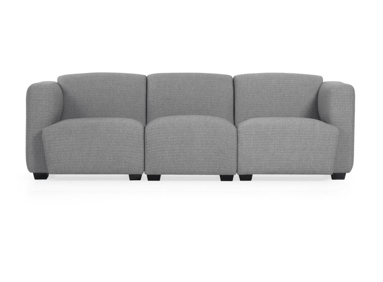 La forma диван трехместный legara серый 222 см. 129928/6