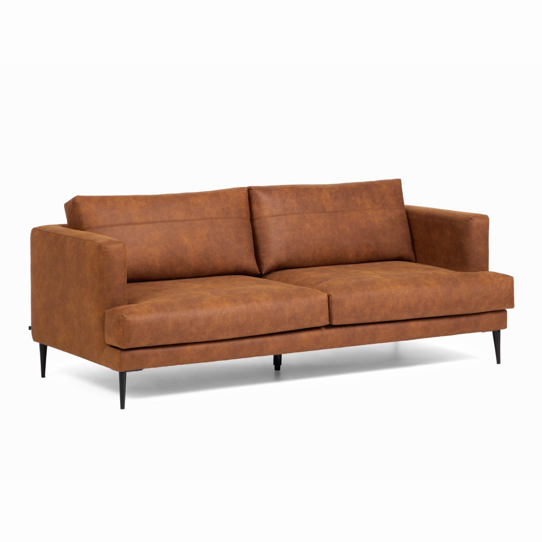 La forma трехместный диван vinny коричневый 129985/8