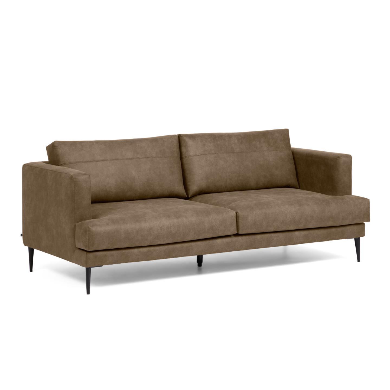 La forma трехместный диван vinny коричневый 129986/6