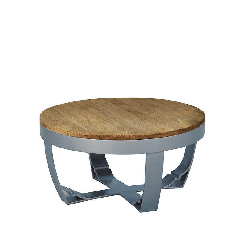"""Стол журнальный """"Spike"""" 60Журнальные столики<br>Круглый столик диаметром 60 см. В металлическую раму, которая может быть светлой или темной, вставлена столешница из тика. Столешница, в свою очередь, также представлена в двух вариантах - натуральный тик или сборные разноцветные элементы. Ножки выполнены из металла, возможные цвета - белый и натуральный металл.<br><br>Мебельная компания Teak house выпускает стильную, винтажную мебель из массива тика. Компания старается сохранить неповторимую фактуру, красоту и жизненную силу натуральной поверхности дерева, подчеркнуть ее удивительный и уникальный рисунок, созданный самой природой.<br><br>Material: Тик<br>Length см: None<br>Width см: None<br>Depth см: None<br>Height см: 30.0<br>Diameter см: 60.0"""