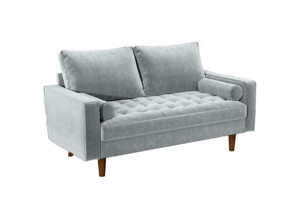 Bradexhome диван двухместный scott серый 130963/3