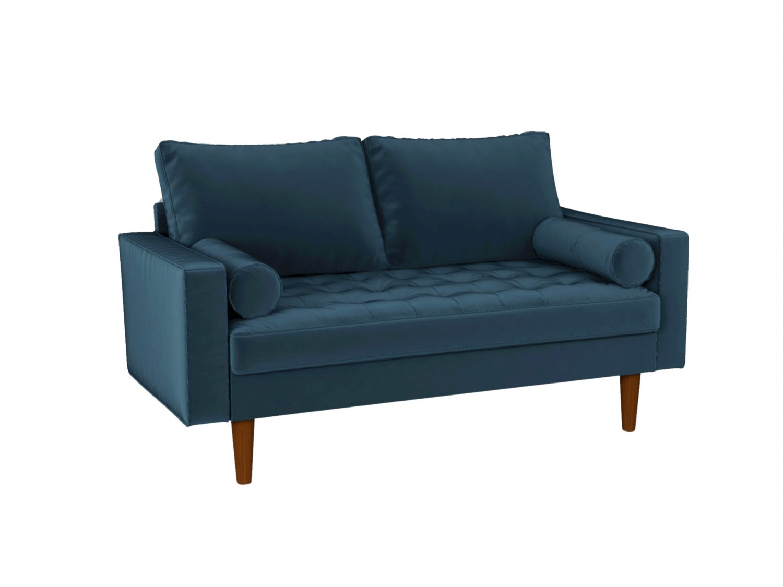Bradexhome диван двухместный scott синий 130962/131018