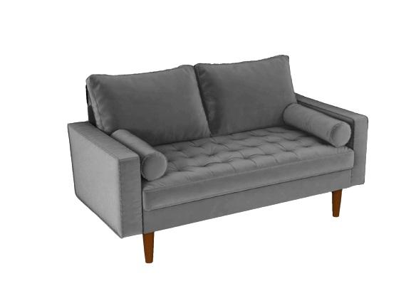Bradexhome диван двухместный scott серый 130961/2