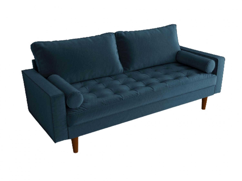 Bradexhome диван трехместный scott синий 130966/8