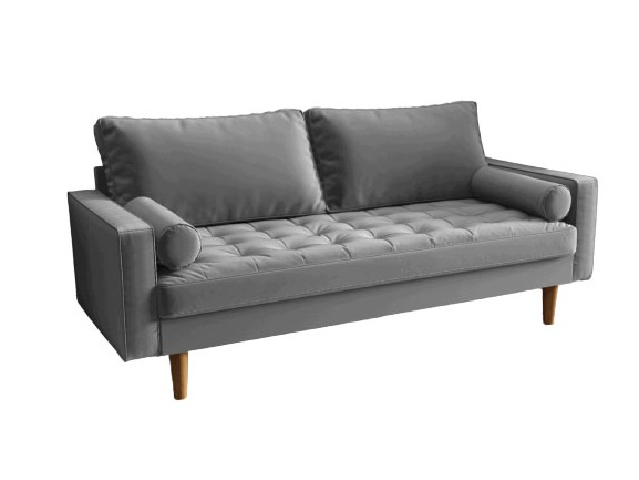 Bradexhome диван трехместный scott серый 130965/7