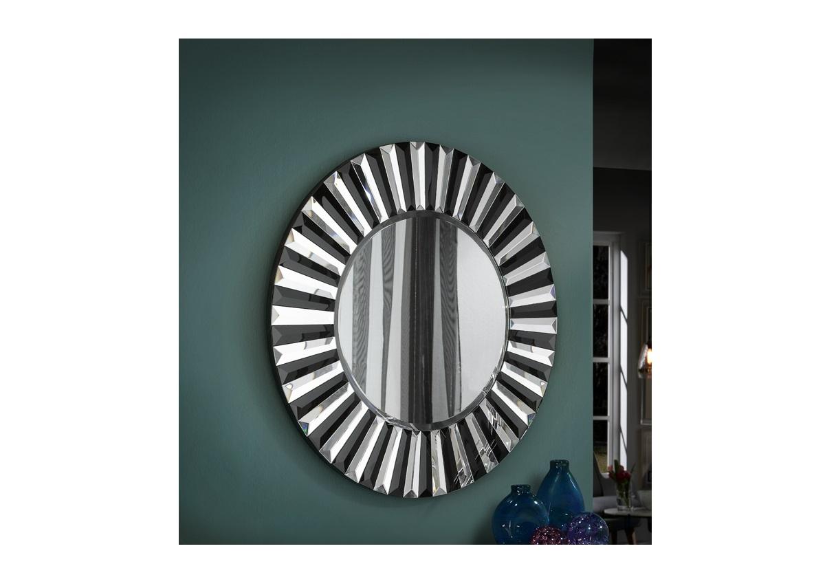 Зеркало alberta (schuller) черный 9 см.