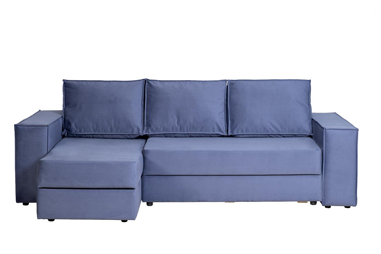 Garda decor диван угловой трехместный bergamo синий 131960/4