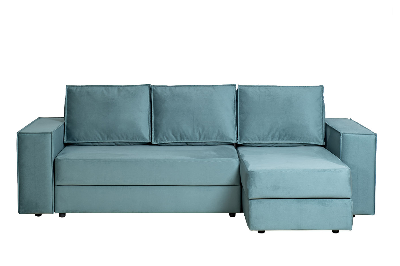 Garda decor диван угловой трехместный bergamo бирюзовый 131961/2