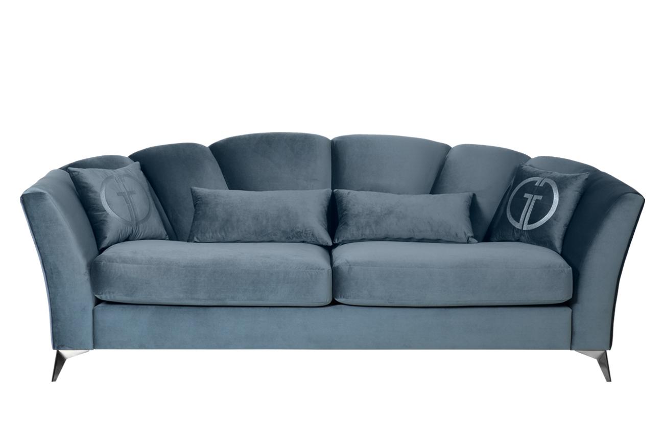 Garda decor диван раскладной трехместный annette бирюзовый 132007/3