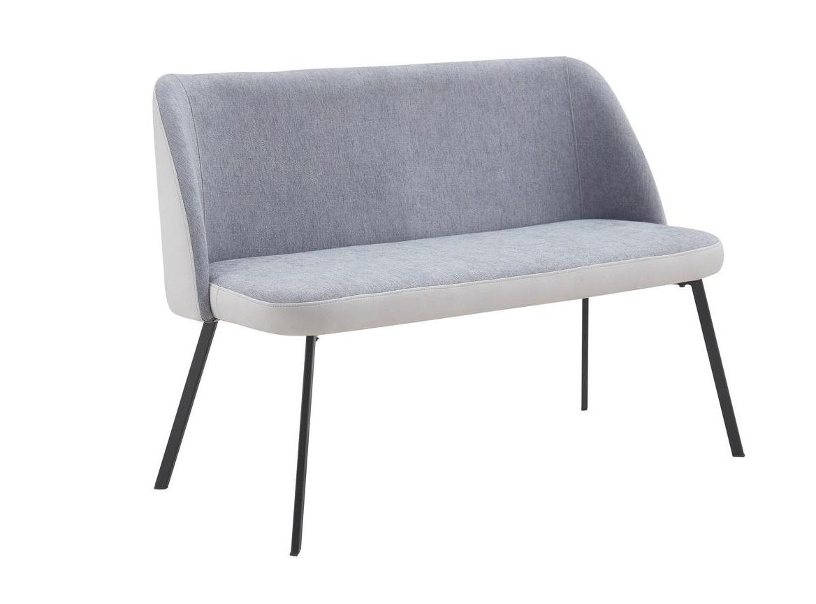 Bradexhome диван-скамья praga серый 132043/132092