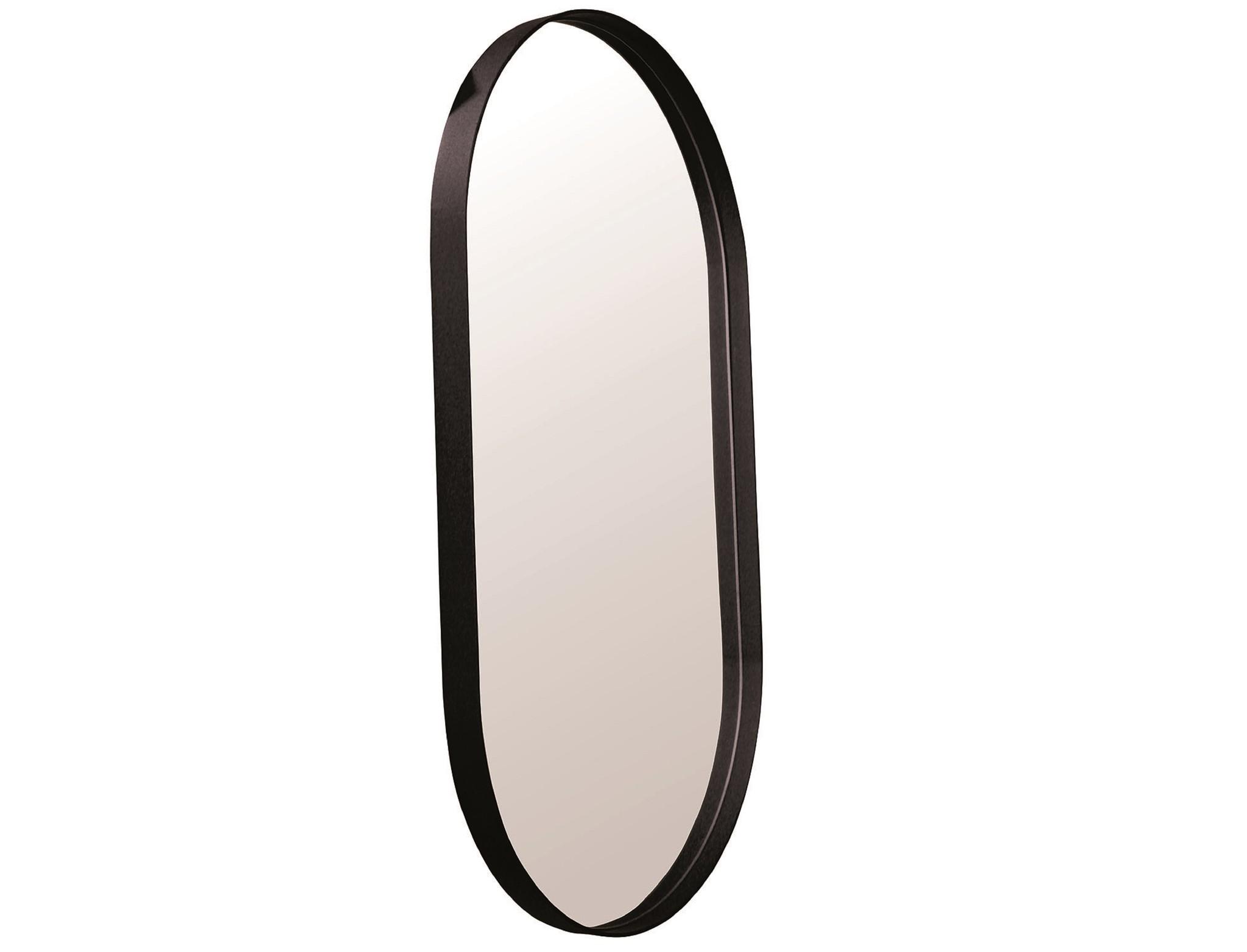 Настенное зеркало ванда 120*50 (simple mirror) черный 50x120x4 см.