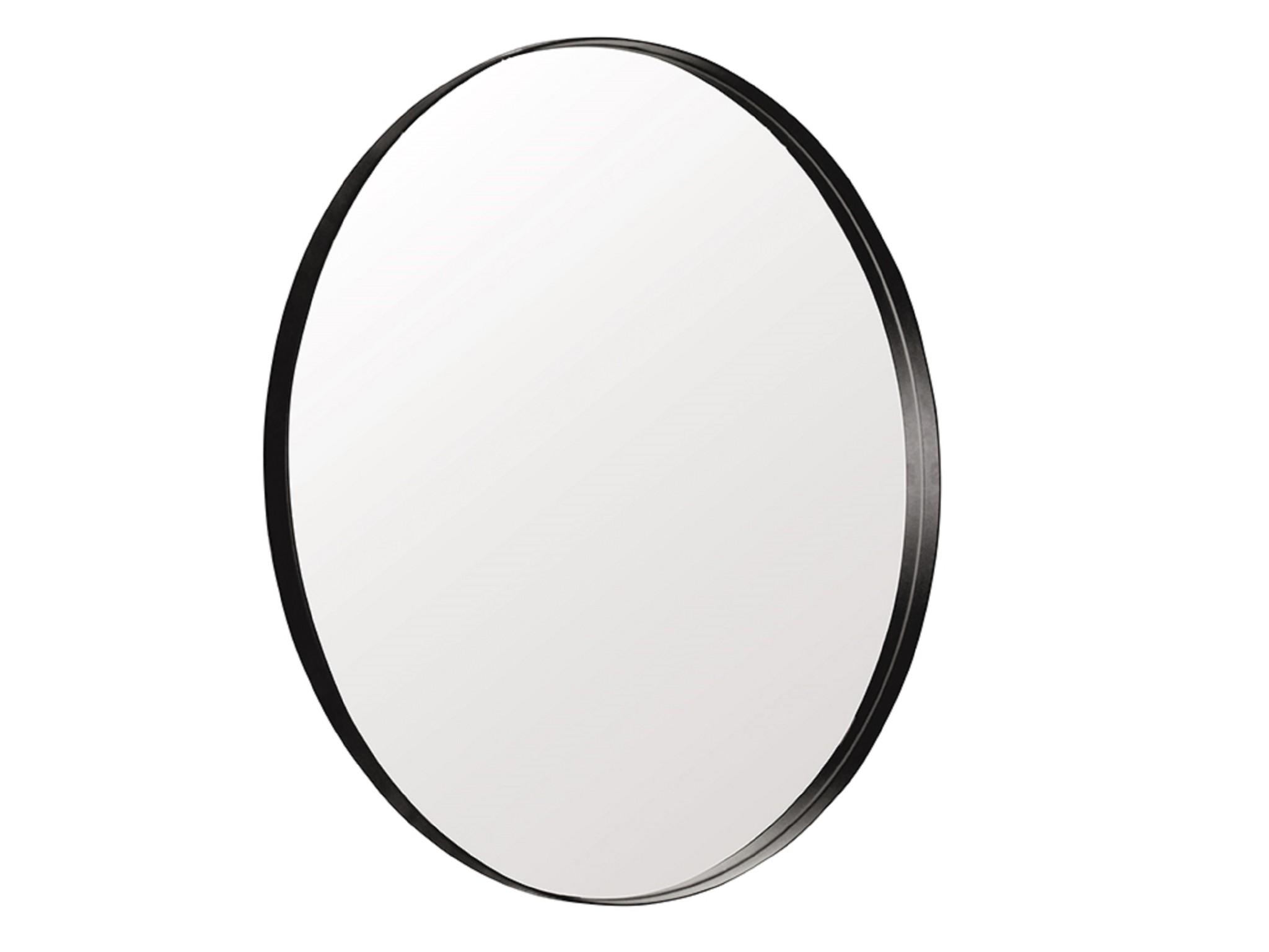 Настенное зеркало гала 90*90 (simple mirror) черный 4.0 см.