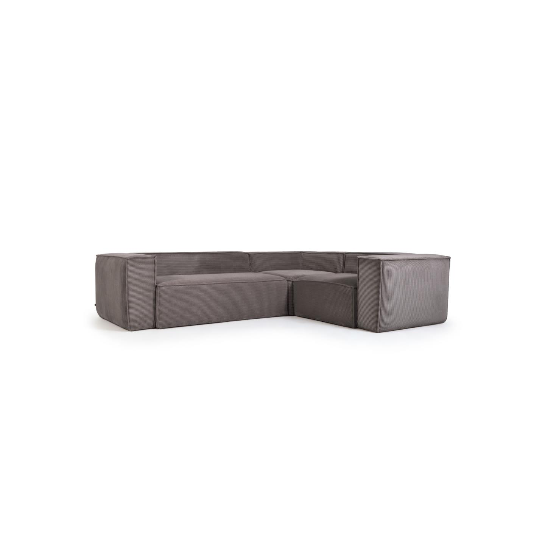 La forma угловой диван corduroy серый 132302/132354