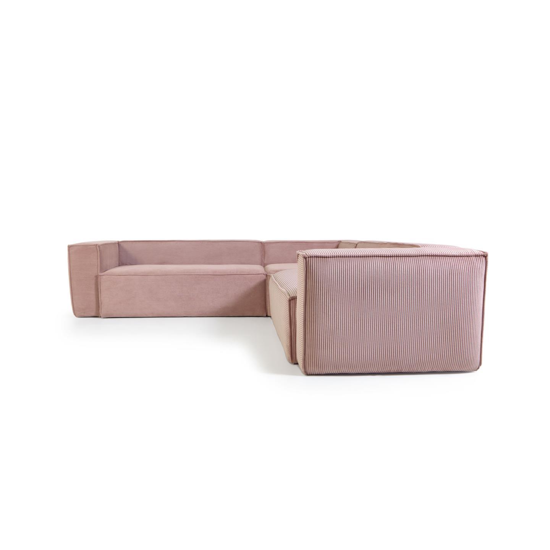 La forma угловой диван corduroy розовый 132303/8