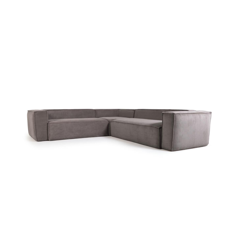 La forma угловой диван corduroy серый 132304/3