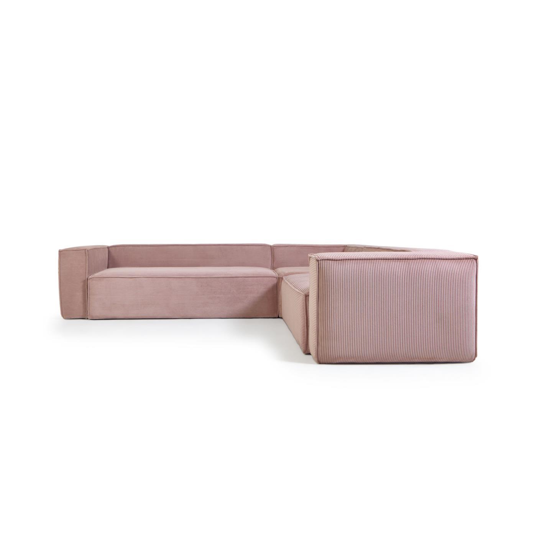 La forma угловой диван corduroy розовый 132305/132357