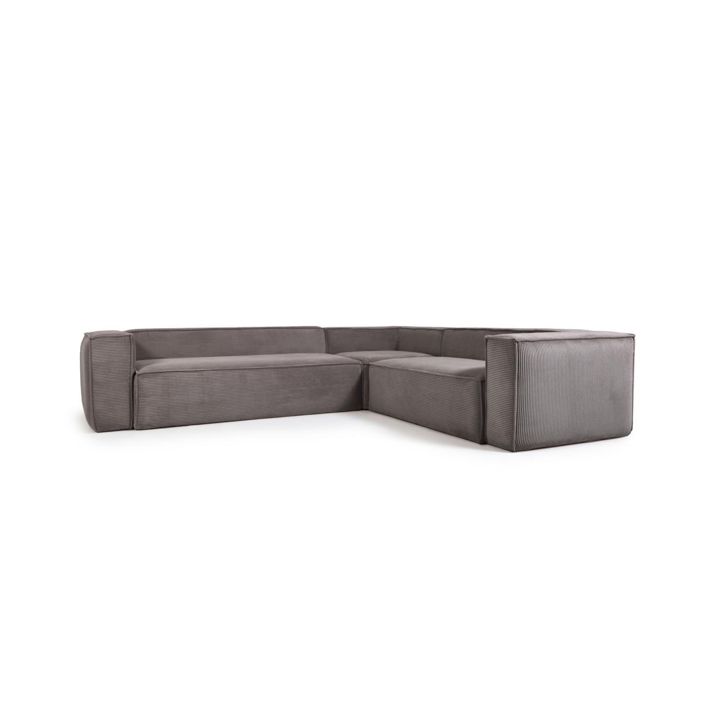La forma угловой диван corduroy серый 132306/6