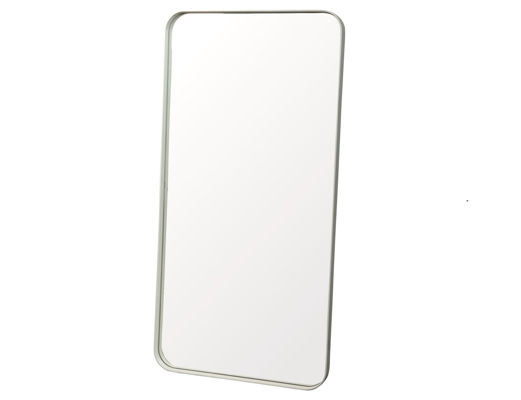 Настенное зеркало кира 100*40 (simple mirror) белый 40x100x4 см.