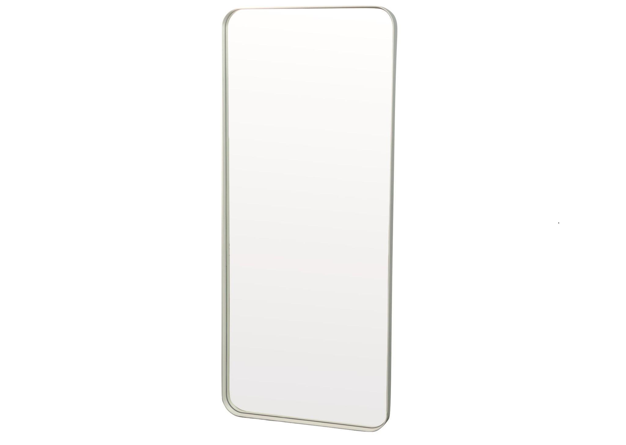 Настенное зеркало кира 140*60 (simple mirror) белый 60x140x4 см.