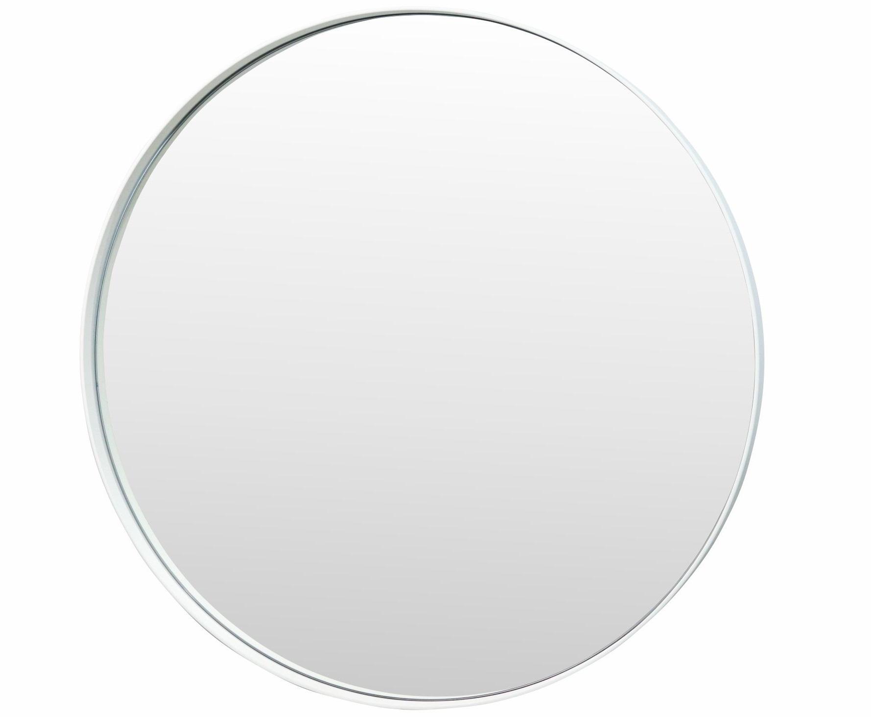 Настенное зеркало гала 70*70 (simple mirror) белый 4 см.