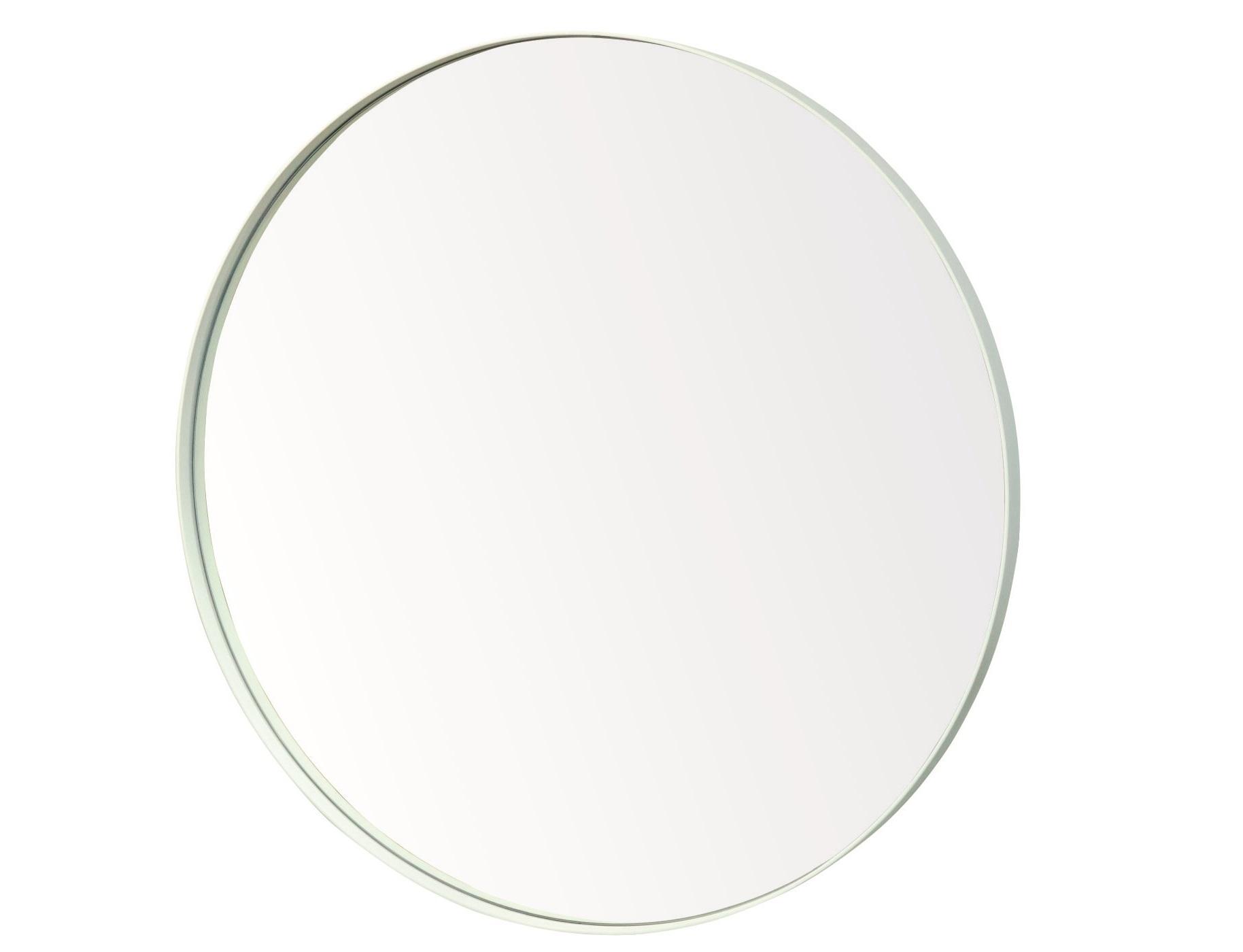 Настенное зеркало гала 90*90 (simple mirror) белый 4 см.