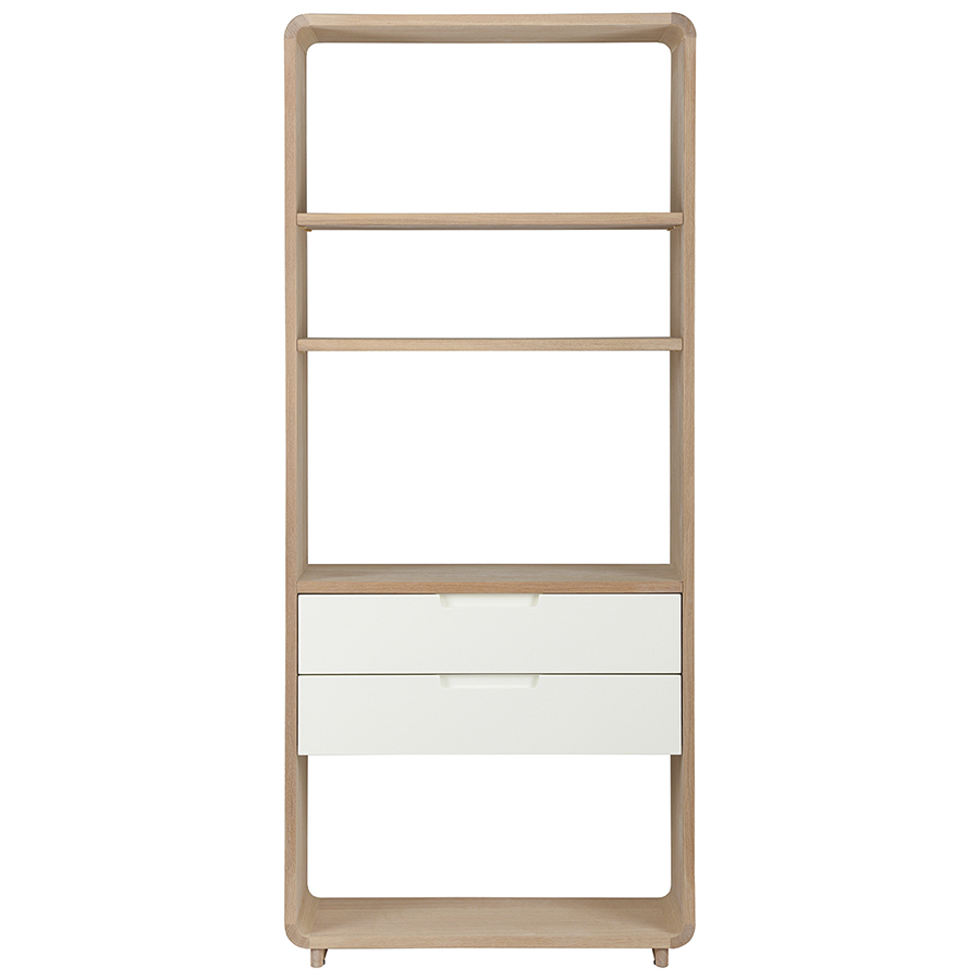 Шкаф книжный amalfi (unique) бежевый 82x194x30 см.