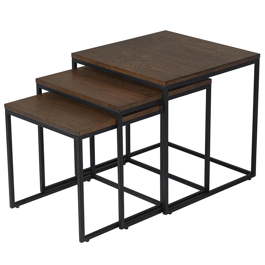 Набор столиков rivoli 3 шт (unique) коричневый 57x58x57 см.