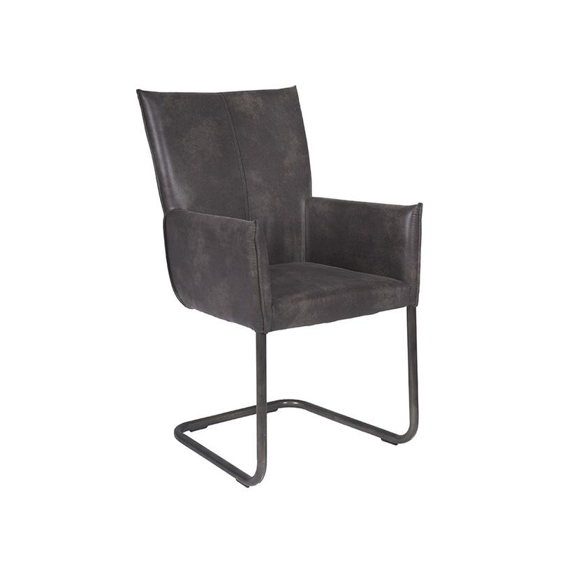 Стул CooperОбеденные стулья<br>Обеденный стул для большой гостиной в стиле лофт. Плавные формы обрамляет обивка из натуральной кожи фактурного серого оттенка. При желании, данная модель отлично впишется в деловой стиль кабинета.<br><br>Material: Кожа<br>Length см: None<br>Width см: None<br>Depth см: None<br>Height см: None<br>Diameter см: None