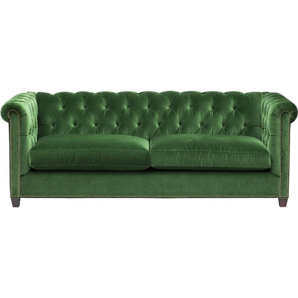 Idealbeds диван william chesterfield зеленый 133111/133126