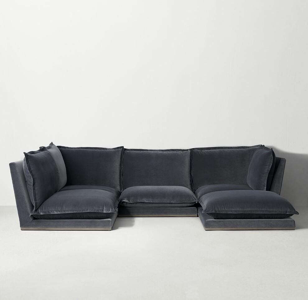 Idealbeds диван модульный cosa velvet черный 133223/133256