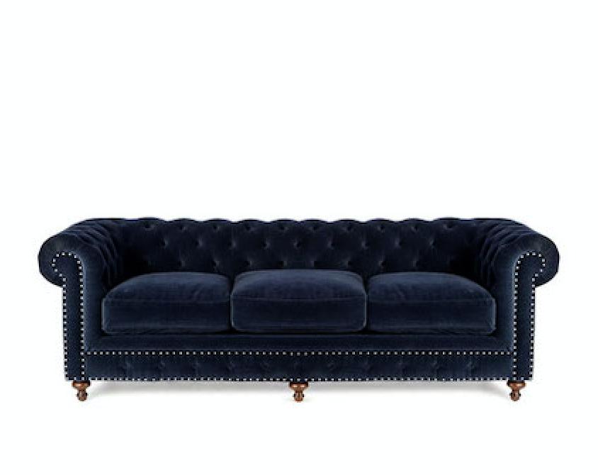 Idealbeds диван chesterfield синий 133367/2