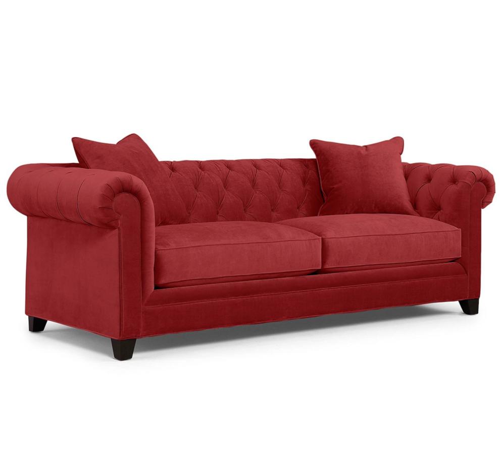 Idealbeds диван chester красный 133376/8