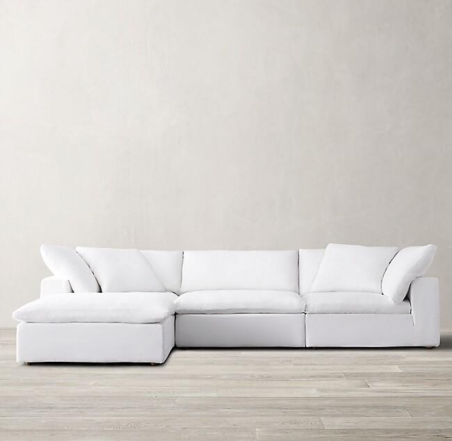 Idealbeds угловой диван cloud серый 133378/5