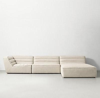 Idealbeds диван угловой chelsea бежевый 133380/3