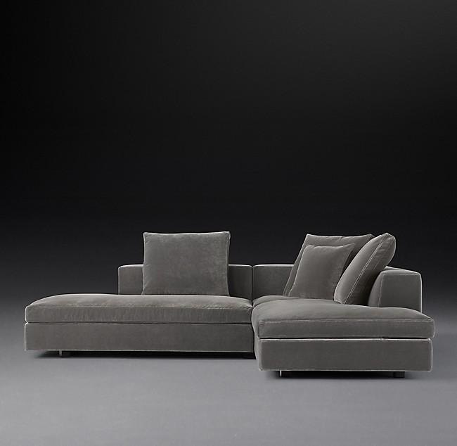 Idealbeds угловой модульный диван magnus серый 133383/7