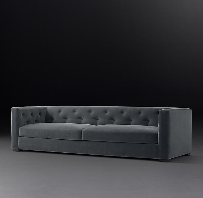Idealbeds диван modena tufted shelter серый 133419/3