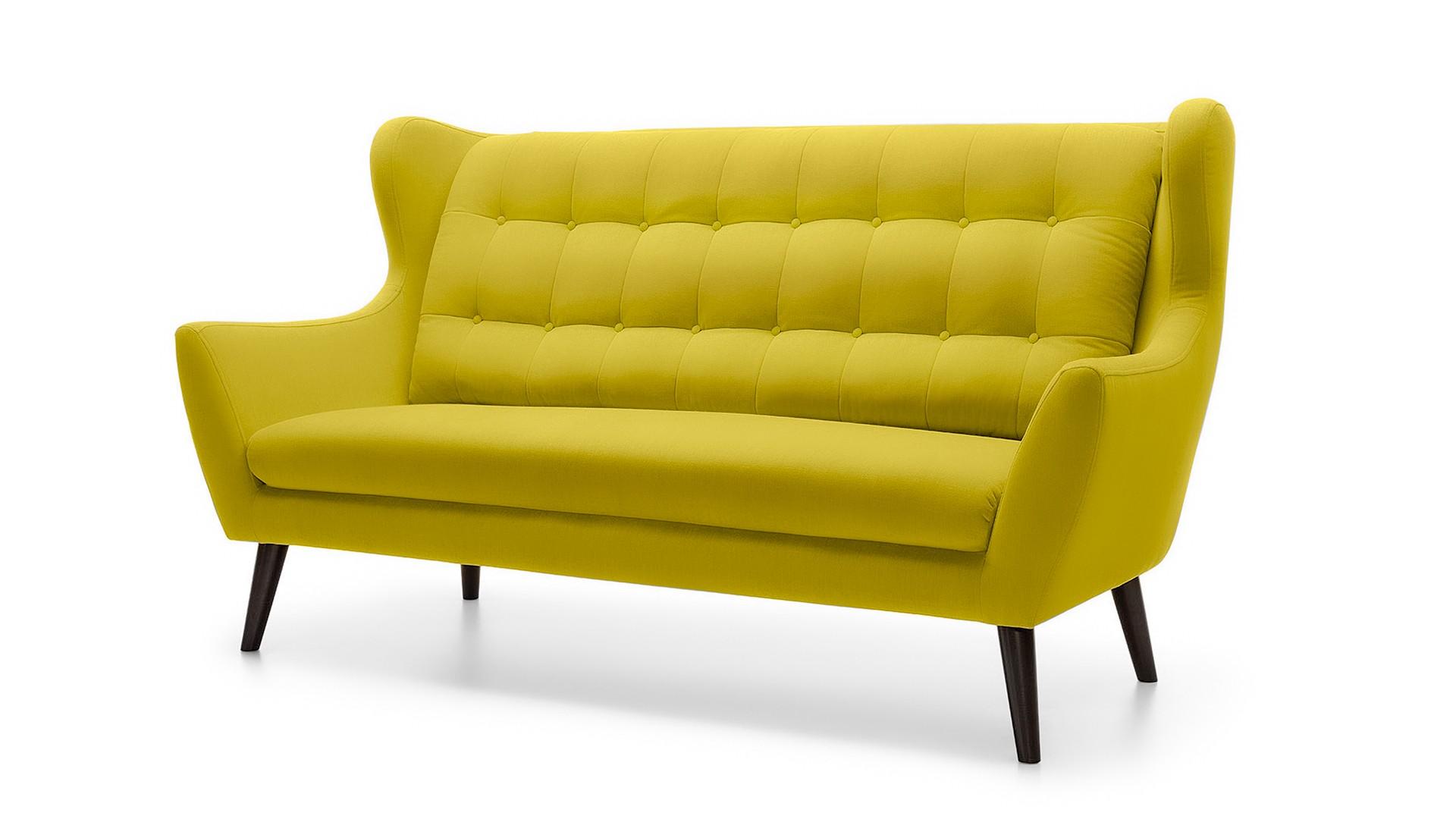 Диван ньюкасл (fiesta) желтый 197x94x107 см.