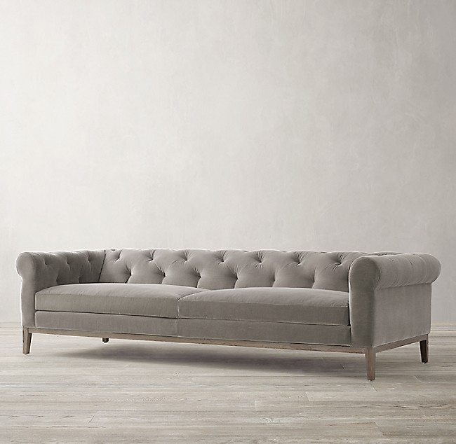 Idealbeds диван italia chesterfield серый 133867/1