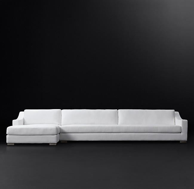 Idealbeds угловой диван modena slope arm белый 133868/8