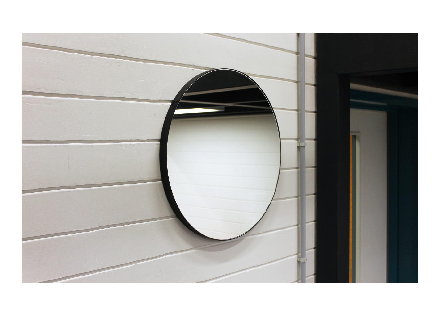 Круглое зеркало (banska) черный 53x53x2.4 см.