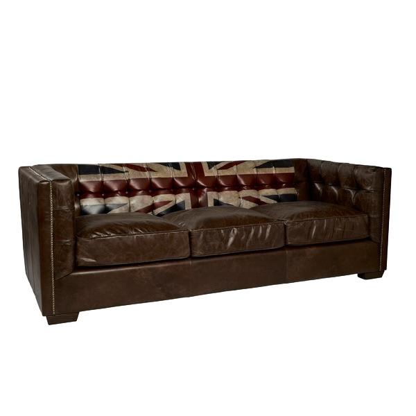 Myfurnish диван rebel vintage коричневый 134056/2