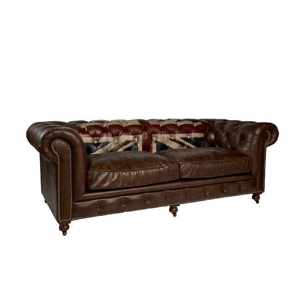 Myfurnish диван rebel vintage коричневый 134057/2