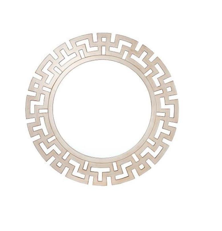 Зеркало LUISAНастенные зеркала<br>Сложная геометрия рамы делает зеркало &amp;quot;Luisa&amp;quot; элегантным и напоминает об эпохе ар-деко. Изысканность ему добавляет отделка белым матовым лаком. Утонченное и благородное, оно просто создано для украшения интерьеров спален и холлов в традиционном американском оформлении.<br><br>Material: Стекло<br>Length см: None<br>Width см: None<br>Depth см: 1.5<br>Height см: None<br>Diameter см: 73.0