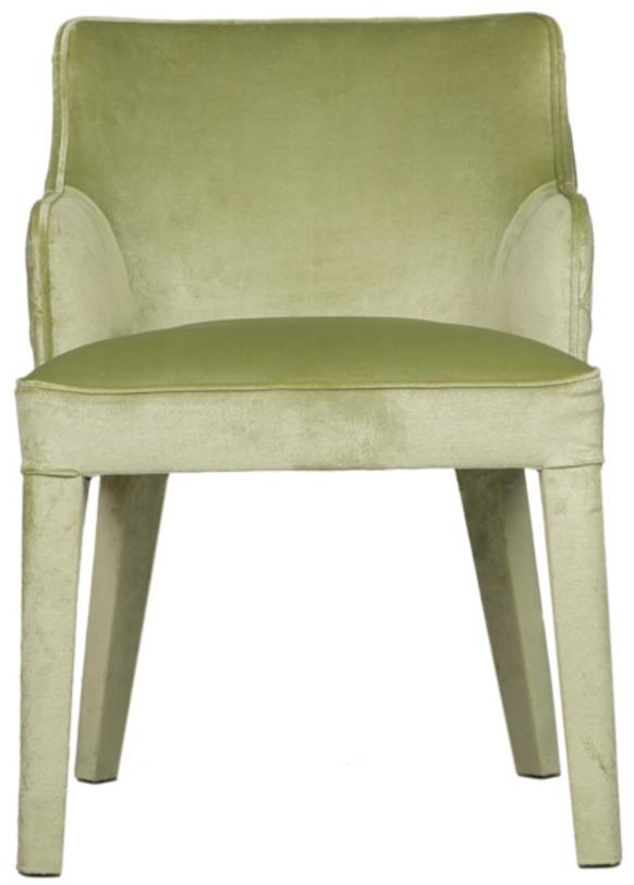 Кресло SuiteПолукресла<br>Выворачиваемся наизнанку! Кресло &amp;quot;Suite&amp;quot; отлично подходит для этого &amp;quot;девиза&amp;quot;. Оно выглядит так, будто дизайнер что-то перепутал. Обивка с каретной стяжкой, обычно используемая для внутренней стороны спинки, украшает ее внешнюю поверхность. Непривычное оформление ничуть не портит облик современного силуэта. Оно придает ему оригинальность, подчеркнутую нежным велюром пастельной зеленой гаммы. Если вы любите нетривиальные вещи, но не приемлете вычурности, то такое кресло придется вам по вкусу.<br><br>Material: Текстиль<br>Ширина см: 55<br>Высота см: 82<br>Глубина см: 59