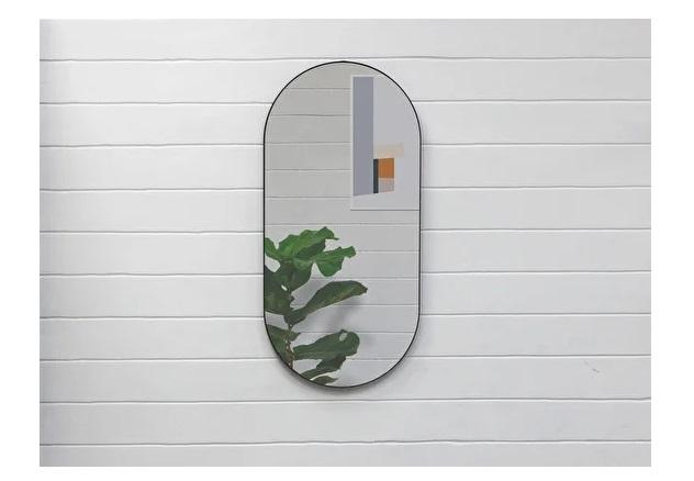 Овальное зеркало banska gralta (banska) черный 40x83x3 см.
