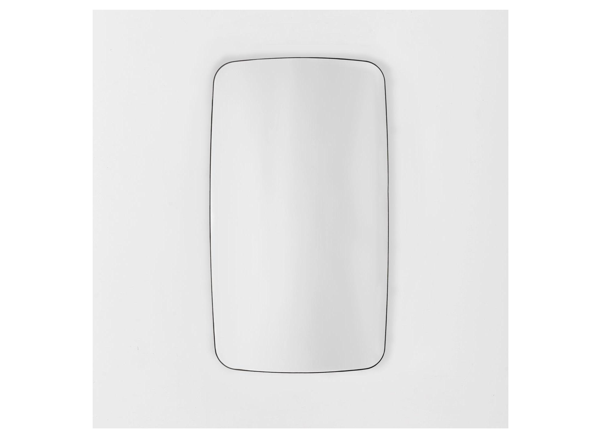 Скруглённое зеркало wake (banska) черный 45x80x3 см.